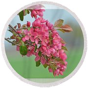 Cherry Blossom Spring Photoart Round Beach Towel