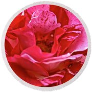 Cherry Chip Rose Petals Round Beach Towel