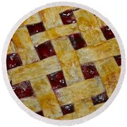 Cherry Pie 3782 Round Beach Towel