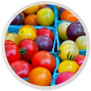Cherry Tomatoes Round Beach Towel