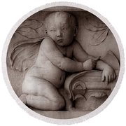 Cherubs 3 Round Beach Towel