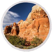 Chesler Park At Canyonlands National Park Round Beach Towel