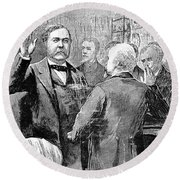 Chester Alan Arthur Round Beach Towel