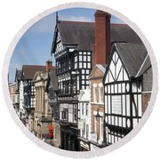 Chester City Skyline Round Beach Towel