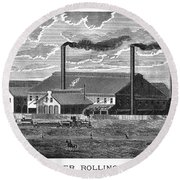 Chester Rolling Mill Round Beach Towel