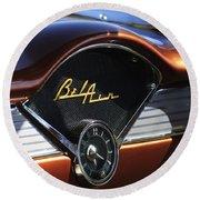 Chevrolet Belair Dashboard Clock And Emblem Round Beach Towel