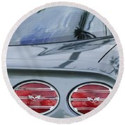 Chevrolet Corvette Tail Light Round Beach Towel
