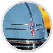 Chevrolet Hood Emblem 2 Round Beach Towel