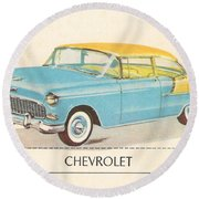 Chevrolet Round Beach Towel
