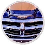 Chevrolet Pickup Truck Grille Emblem Round Beach Towel