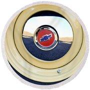 Chevrolet Wheel Emblem Round Beach Towel