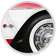 Chevrolette Corvette Sting Ray Convertible Round Beach Towel