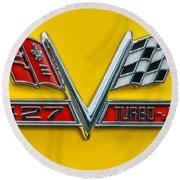 Chevy 427 Turbo-jet Round Beach Towel