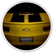 Chevy Camaro Covertible Rs Tail Round Beach Towel