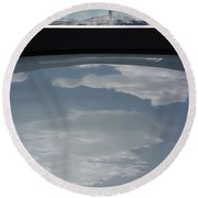Chevy Coupe Rear Window Round Beach Towel