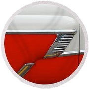 Chevy Door Round Beach Towel