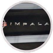 Chevy Impala Ss Emblem Round Beach Towel