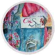 Chic Street Consignments Round Beach Towel