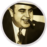 Chicago Gangster Al Capone Round Beach Towel