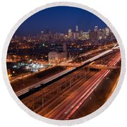 Chicago Illumina Round Beach Towel