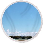 Chicago Summer Sky Round Beach Towel