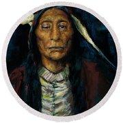 Chief Niwot Round Beach Towel