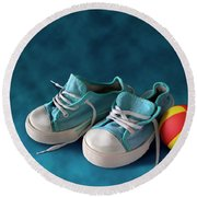 Children Sneakers Round Beach Towel