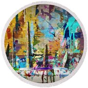 Child's Painting Easel Round Beach Towel