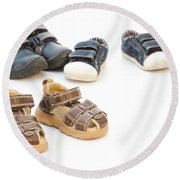 Childs Shoes Round Beach Towel