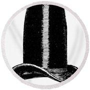 Chimney-pot Hat, C1850 Round Beach Towel