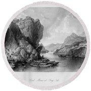 China: Coal Mining, 1843 Round Beach Towel
