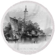 China: Golden Island, 1843 Round Beach Towel