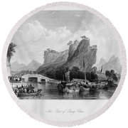 China: Hangzhou, 1843 Round Beach Towel