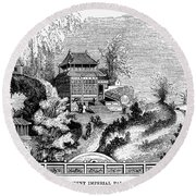 China: Imperial Palace Round Beach Towel