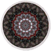 China Town Round Beach Towel