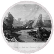 China: Wuyi Shan, 1843 Round Beach Towel