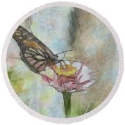 Chinese Butterfly Round Beach Towel