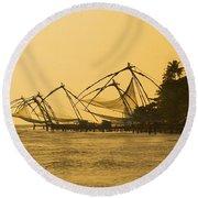 Chinese Fishing Nets Round Beach Towel