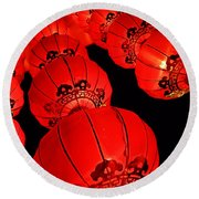 Chinese Lanterns 3 Round Beach Towel