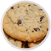 Chocolate Chip Cookies Pano Round Beach Towel