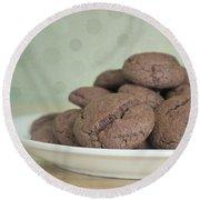 Chocolate Cookies Round Beach Towel