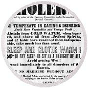 Cholera Broadside 1849 Round Beach Towel