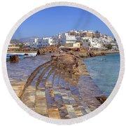 Chora Naxos Round Beach Towel