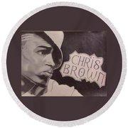 Chris Brown Round Beach Towel