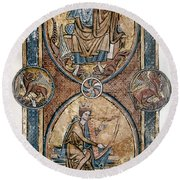 Christ And David Round Beach Towel