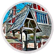 Christ Church Of St Michaels Round Beach Towel