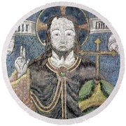 Christ In Majesty Round Beach Towel