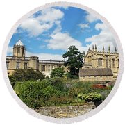 Christ Church Cathedral Round Beach Towel