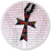 Christian  Cross Round Beach Towel by Cynthia Amaral