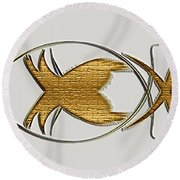Christian Fish Round Beach Towel